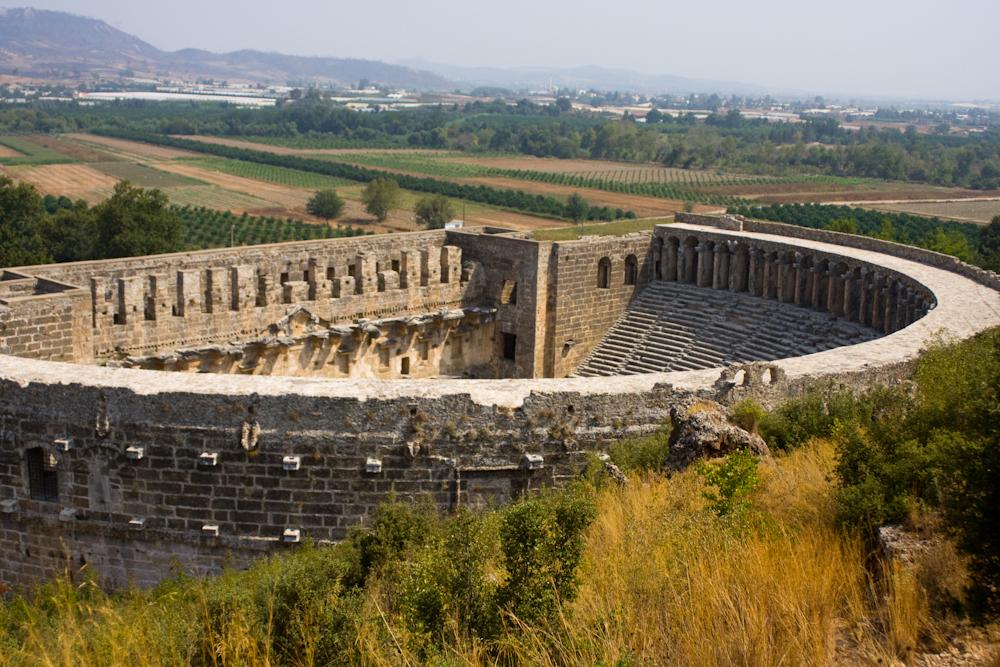Aspendos - amfiteáter z čias Rímskej ríše