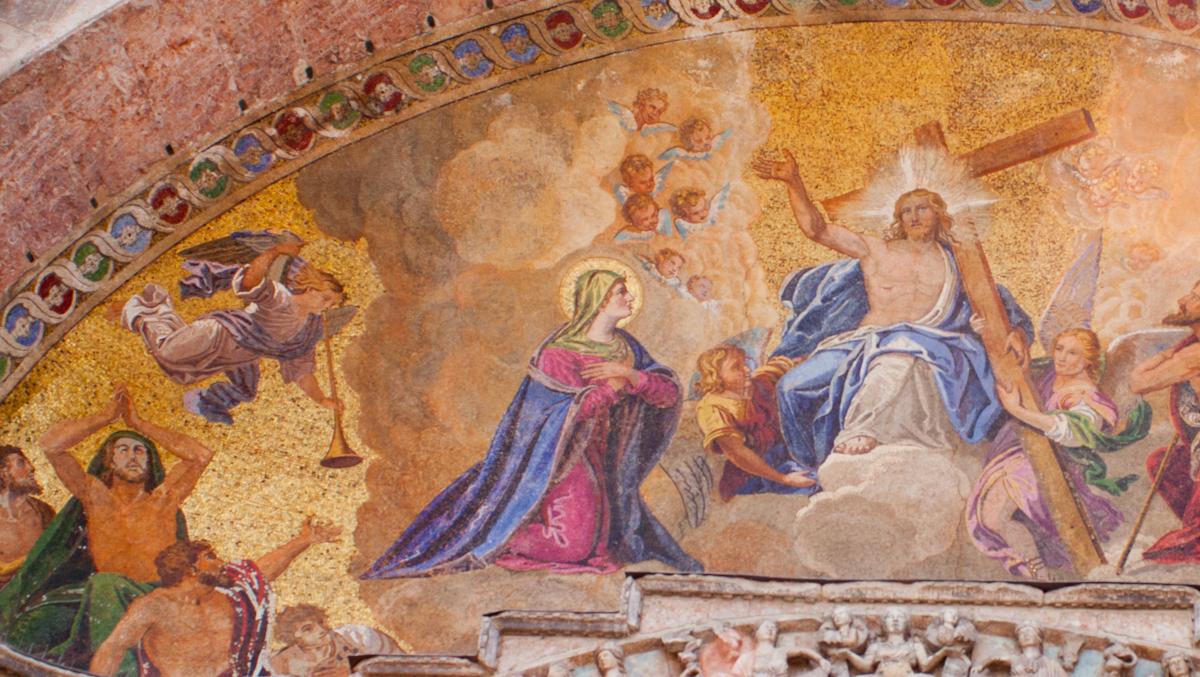 Benátky - freska na Bazilike svätého Marka
