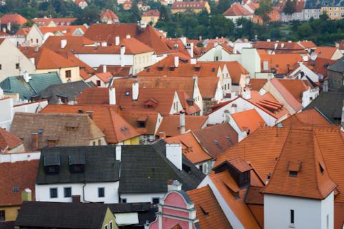 Český Krumlov - pohľad na strechy
