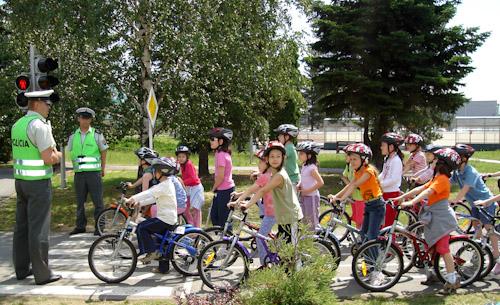 Vyučovanie na dopravnom ihrisku